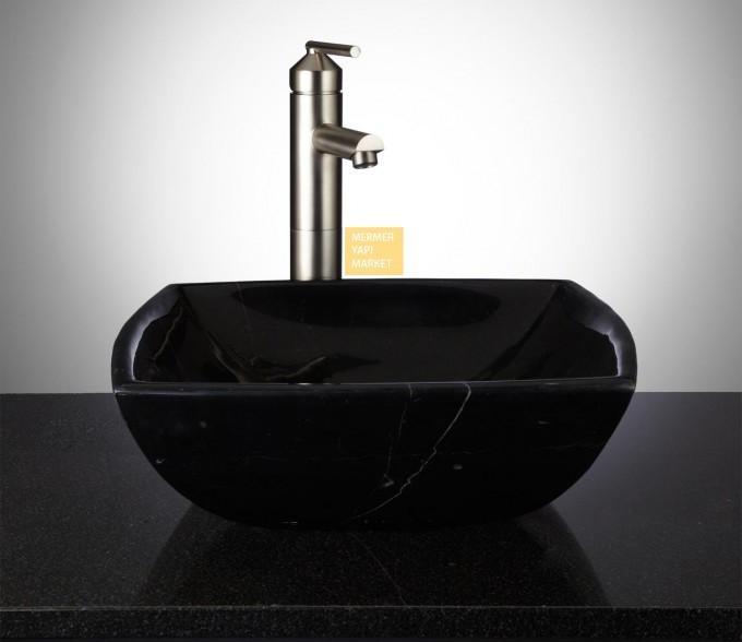 Siyah Mermer Lavabo - Tekno