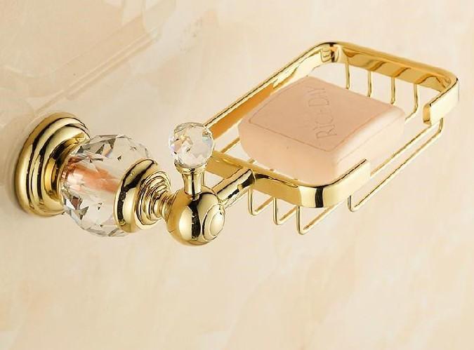 Kristal Altın Kaplama Sabunluk