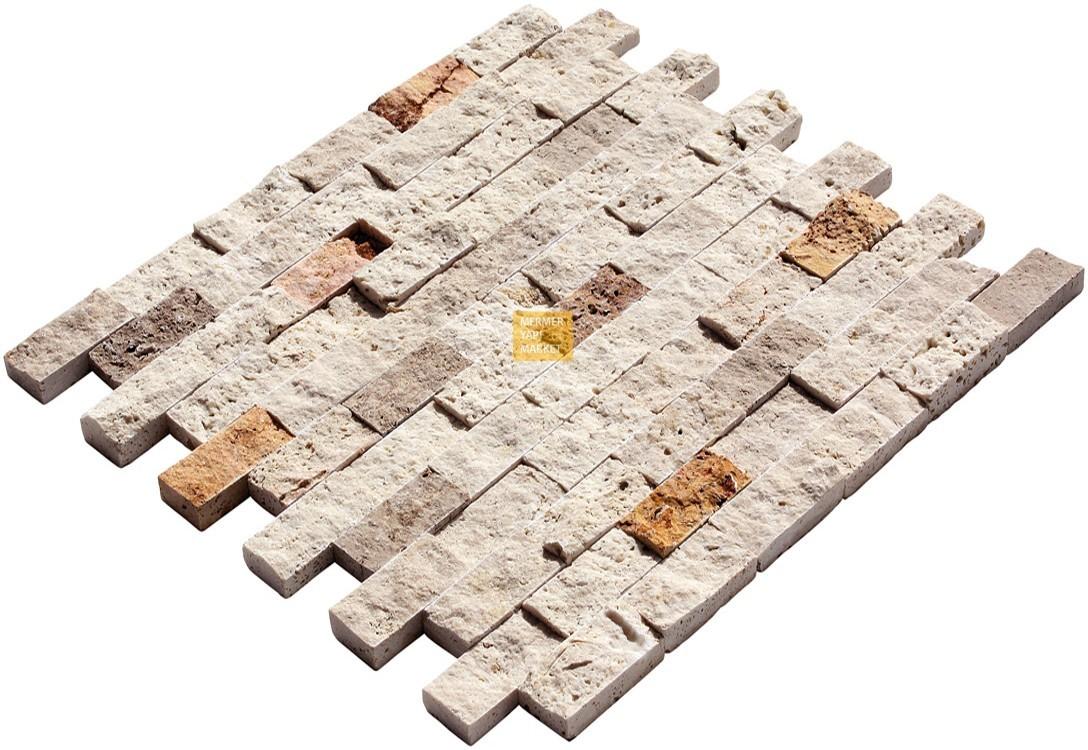Mix Sarı Noçe Klasik Patlatma Traverten Mozaik