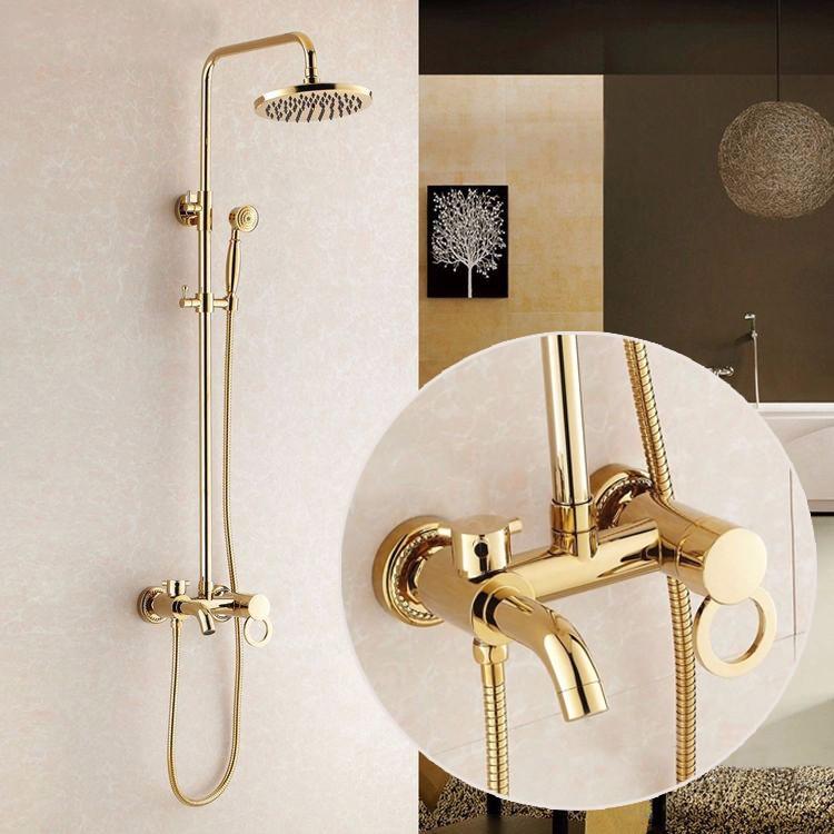 Altın Kaplama Banyo Duş Seti