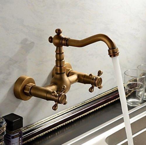 Duvardan Girişli Antik Banyo Ve Mutfak Bataryası