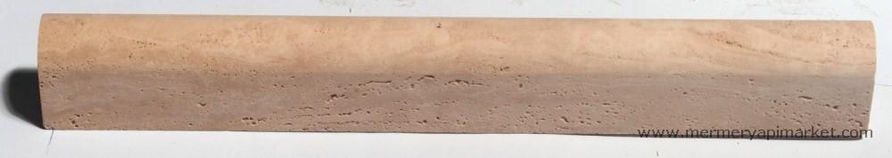 Light Traverten Honlu Profil - Bullnose