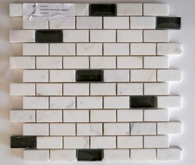 Siyah Beyaz Mermer Mozaik