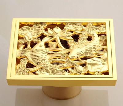 Altın Kaplama Balık Figürlü Yer Süzgeci