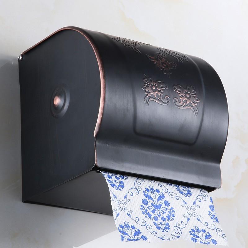 Antik Petrol Siyahı Tuvalet Kağıtlık