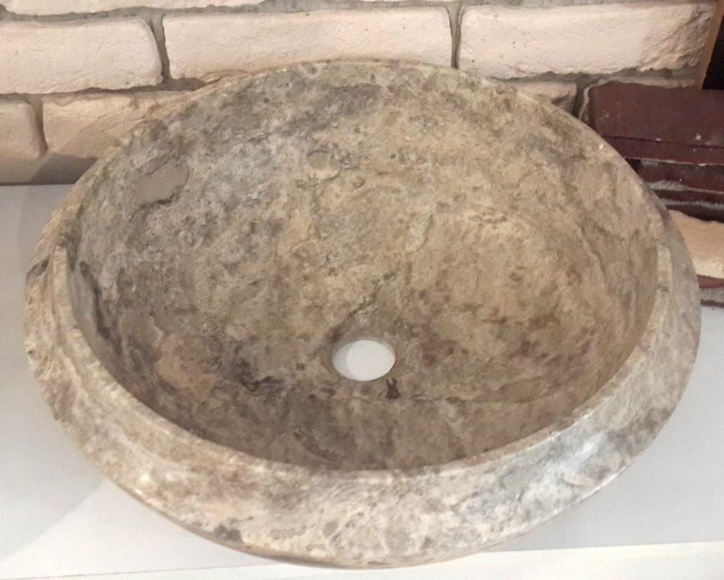 Gümüş Traverten Lavabo