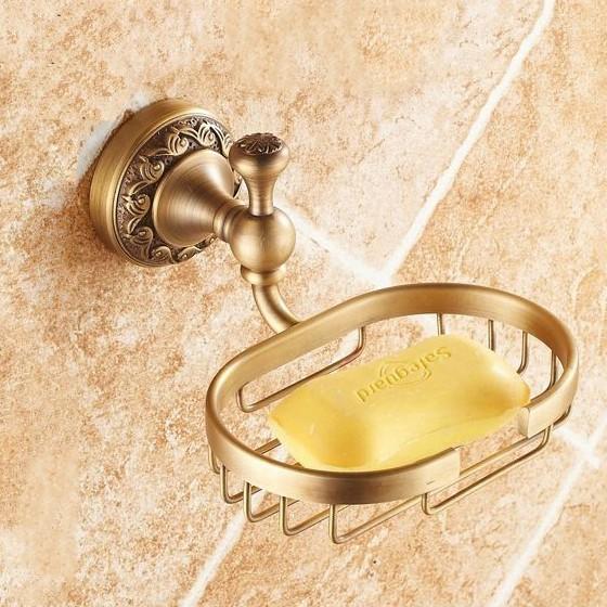 Modern Antik Altın Kaplama Sabunluk