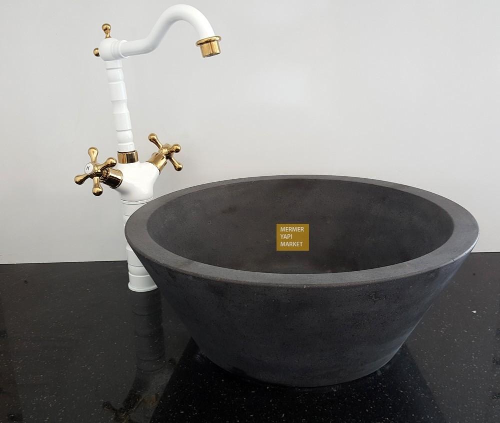 Bazalt Siyah Çanak Lavabo