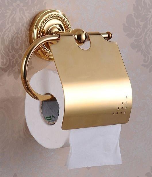 Altın Kaplama Tuvalet Kağıtlığı
