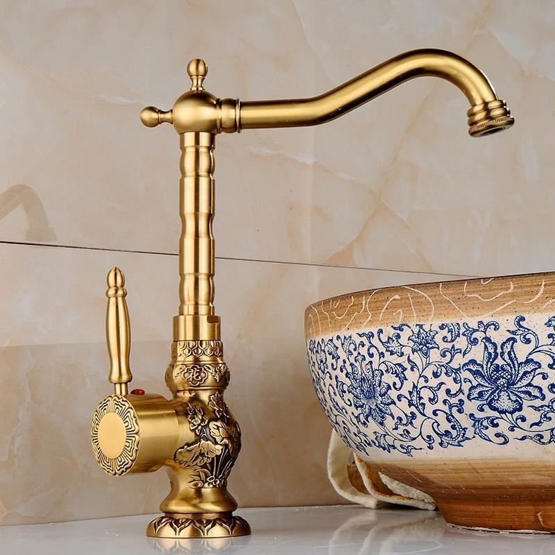 Eskitme Banyo Lavabo Armatürü
