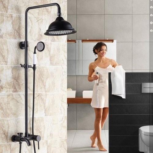 Petrol Siyahı Duş Takımı Set