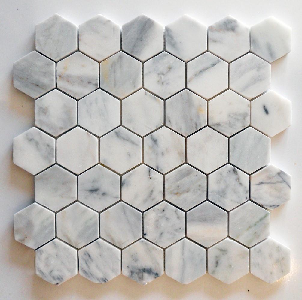 Muğla Beyazı Cilalı Altıgen Mozaik