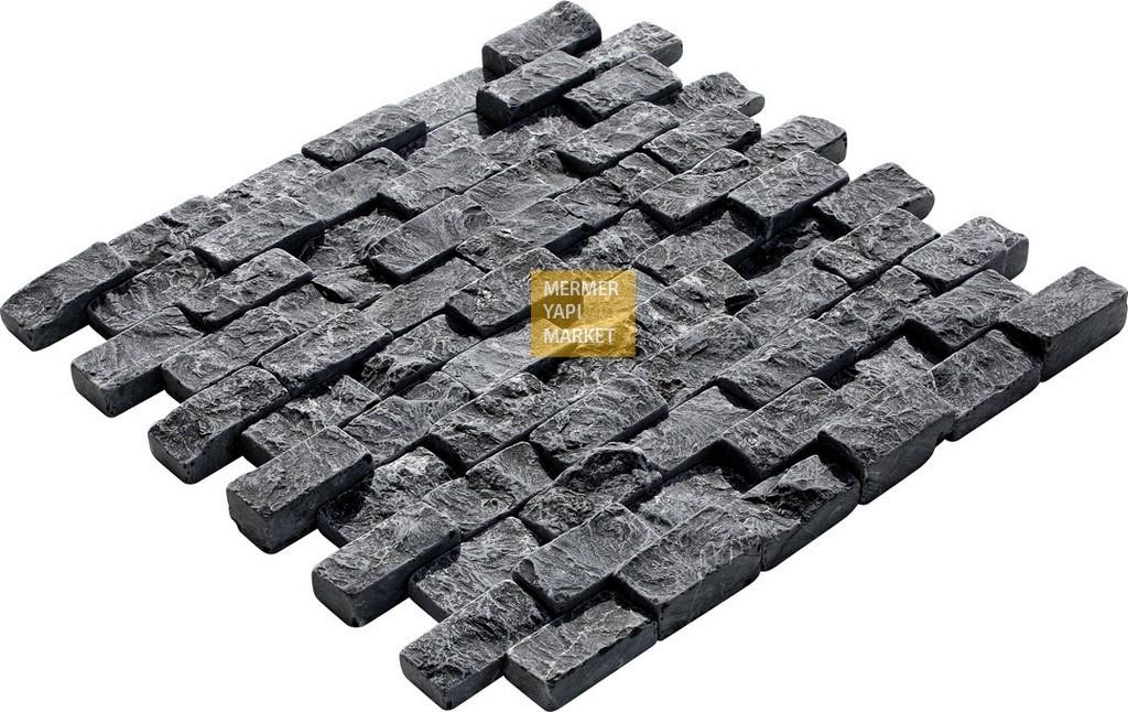 Toros Siyah Eskitme Patlatma Mozaik