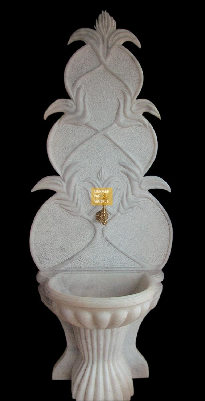 Beyaz Mermer Çeşme