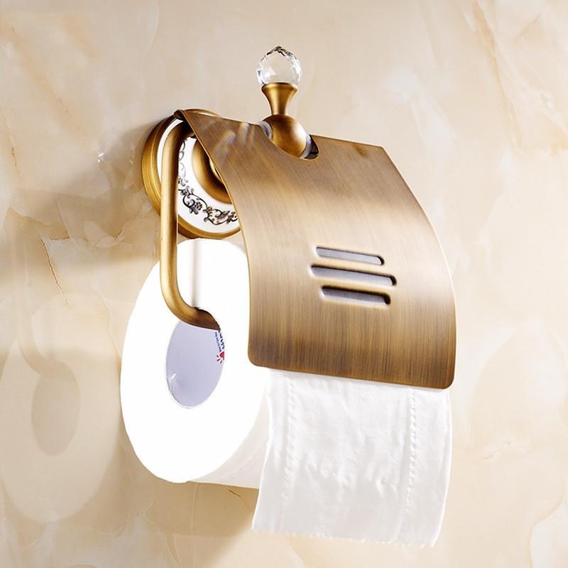 Lüks Eskitme Kaplama Tuvalet Kağıtlık