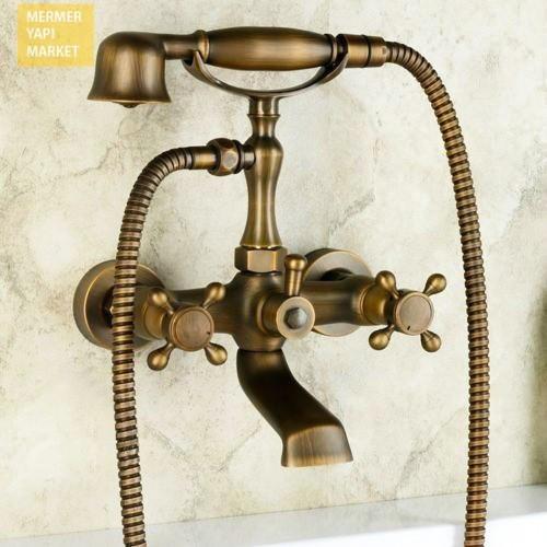 Antik Banyo Duş Seti + Telefon El Duşu