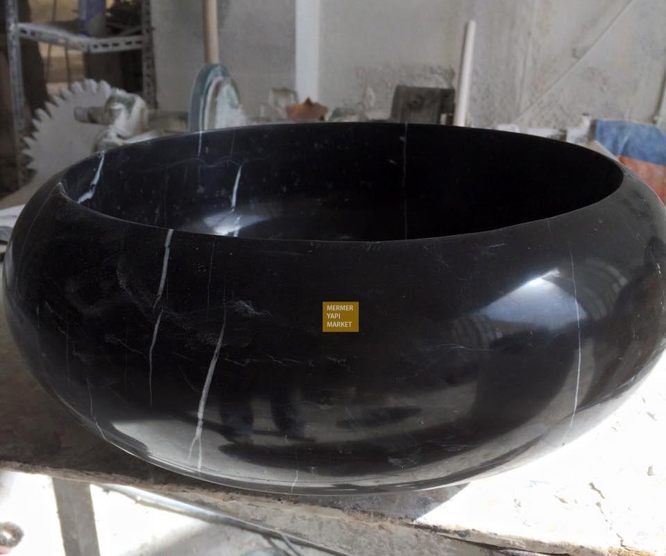 Toros Siyah Oval Lavabo