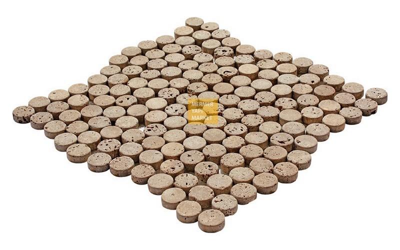 Round Mozaikler - Noçe Traverten