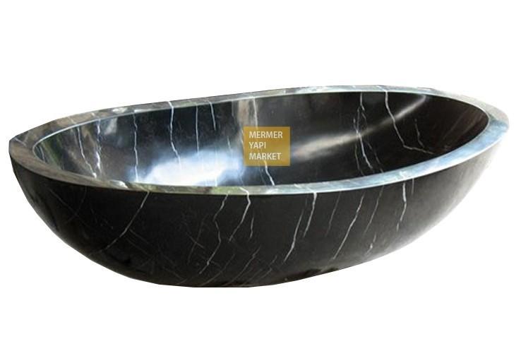 Toros Siyah Mermer Küvet