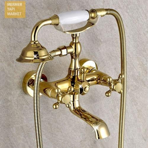 Seramik Altın Kaplama Banyo Takımı