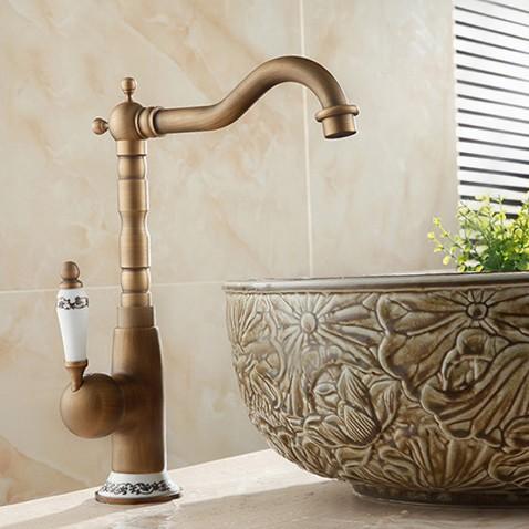 Modern Antik Eskitme Banyo Lavabo Bataryası