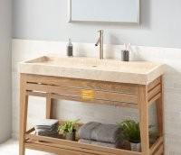 Bej Mermer Banyo Tezgahı