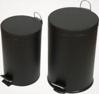 Siyah Paslanmaz Çöp Kovası