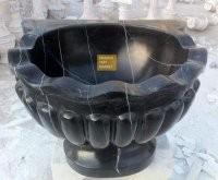 Toros Siyahı Mermer Kurna - Kavun Dilimi