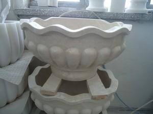 Bej Mermer Osmanlı Banyo Kurnası